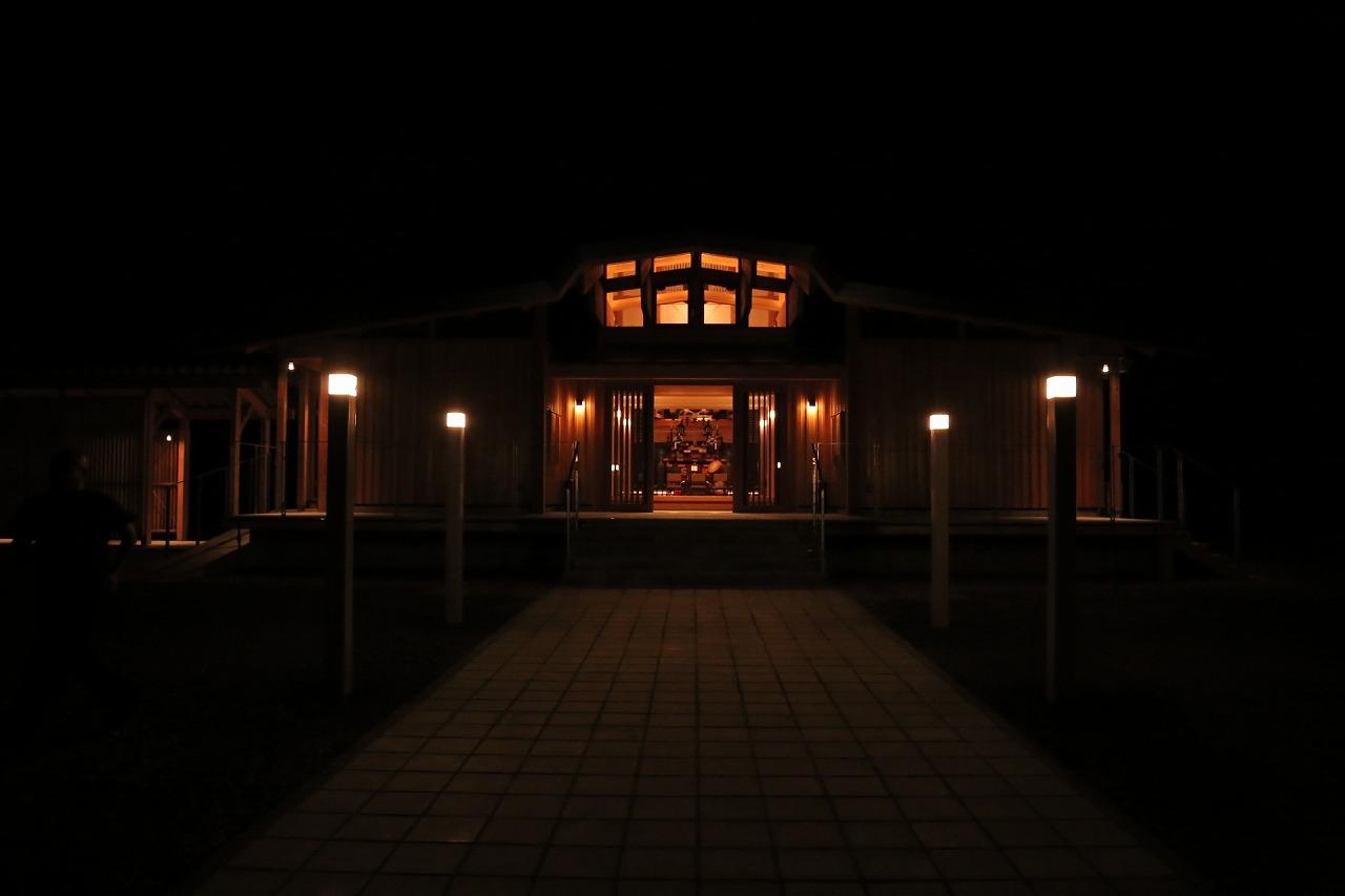 本堂外観 夜景2